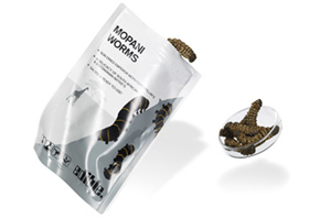 Mopani Worms - available in the UK through lazyboneuk.com £10.99 per packet