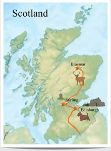 Andy and Jerry's progress through Scotland