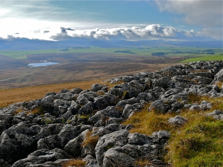 Limestone pavement above Sunbiggin Tarn, Orton Fells