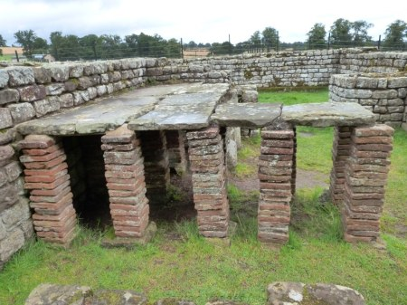 underfloor heating at Chester's fort, Hadrian's Wall