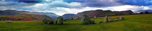 Set in Cumbria's dramatic  mountain scenery, The Carles of Castlerigg stone circle, near Keswick is one of the magnificent sites that impresses visitors and local residents alike.