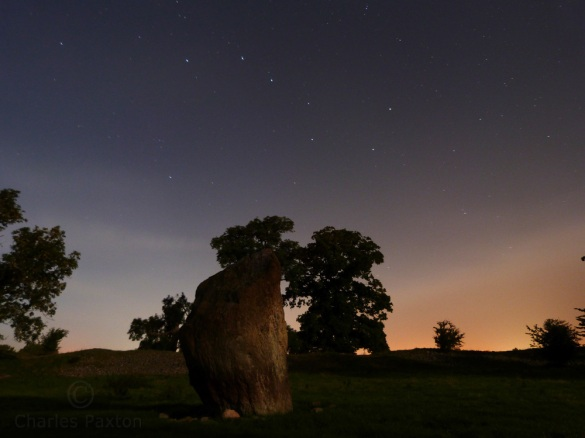 Mayburgh Henge at Eamont Bridge, Penrith under the Great Bear constellation