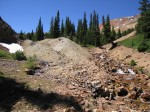 main waste rock pile before removal jul 2014